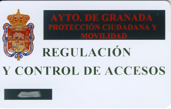 Resident card for use in rising bollards
