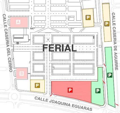 aparcamientos del ferial