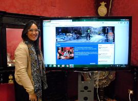 María Francés presenta la nueva web de movilidad de Granada