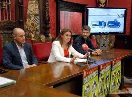 Raquel Ruz presentando la campaña con Mutua Motera y Vespacito