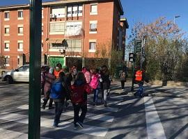 Walking bus school Arrayanes Granada Project STARS