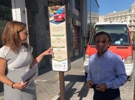 Raquel Ruz presenta señalética en 3 idiomas en buses de líneas turísticas