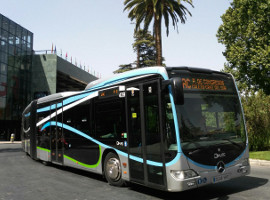 Bus LAC en plaza Rotary