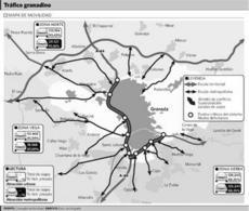 Mapa de Granada del PMUS