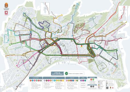Plano nueva red Transporte P�blico Colectivo de Granada